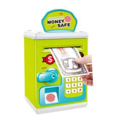 Копилка-сейф Money Safe Финансовая грамотность с отпечатком пальцев Зеленая (TB-M 6161)