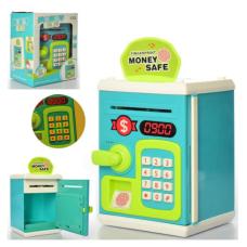 Копилка-сейф Money Safe Финансовая грамотность с отпечатком пальцев Синяя (TB-M 6161)