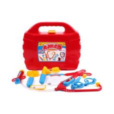 Игрушка Маленький доктор Технок чемоданчик и 10 предметов Красный