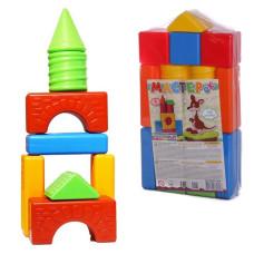 Детские кубики МАСТЕРОК 15 деталей
