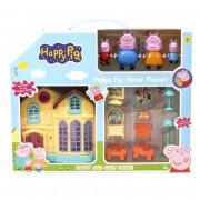 Домик игровой Свинка Happy Pig с мебелью и 4 персонажа (TB-5585-E1)